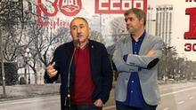 Pepe Álvarez, secretario general del UGT, y Unai Sordo, secretario general de CCOO, en la rueda de prensa previa a la celebración del 30 aniversario de la huelga general del 14-D.