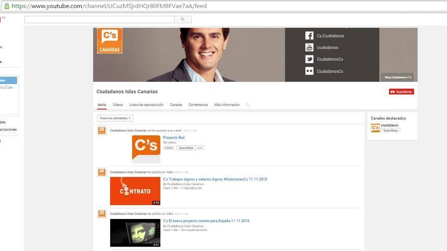 Ciudadanos crea en Canarias un canal de Youtube para difundir su actividad