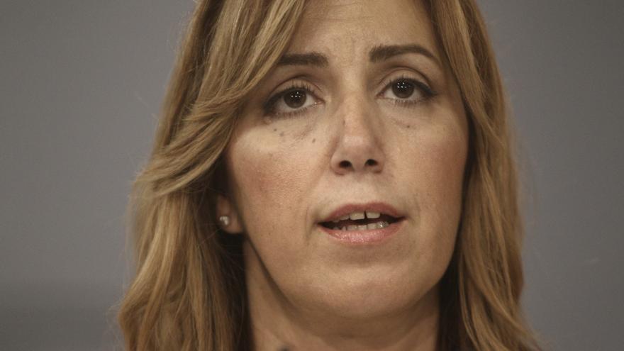 Susana Díaz afirma que el conflicto solo se puede solucionar con diálogo y expresa su apoyo al Gobierno