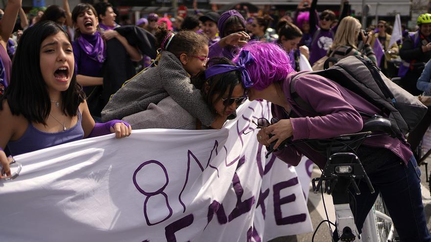 FOTOS | El feminismo sale a la calle en el 8M para plantar cara al patriarcado