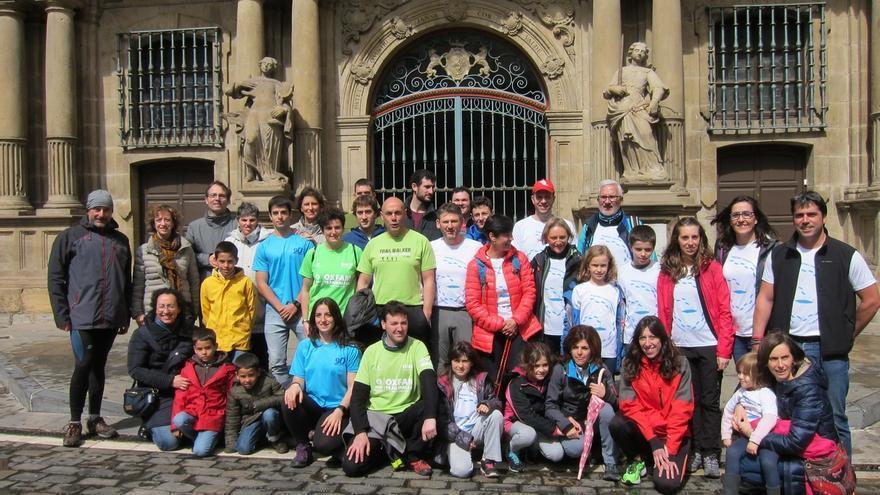 Participantes de la VII Oxfam Intermón Trailwalker se reúnen en Pamplona para difundir esta marcha solidaria