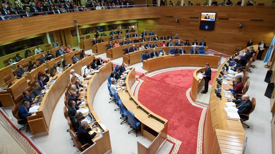 Vista del pleno durante una de las intervenciones de Feijóo / Ana Varela