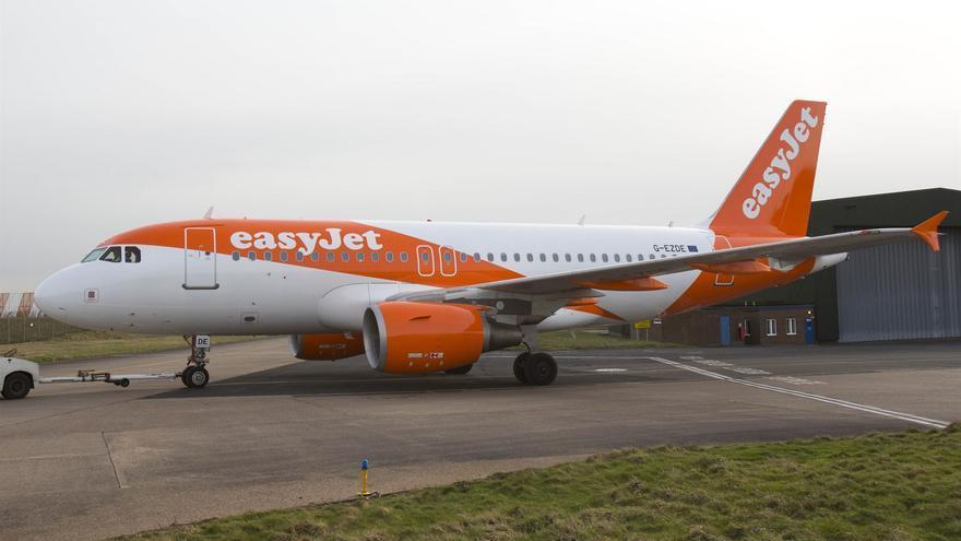 En la imagen, un avión de la compañía EasyJet.