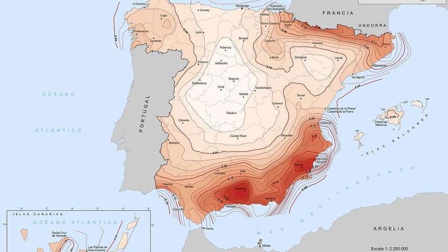 Mapa de peligrosidad sísmica de España 2015