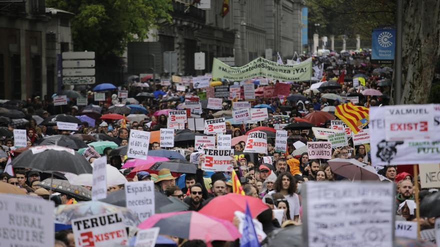 Marcha de la 'España vaciada' en Madrid