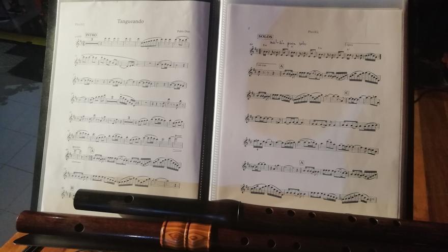 Partituras del flautista Pablo Díaz.