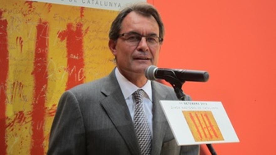 Artur Mas En El Acto Institucional De La Diada En La Ciutadella