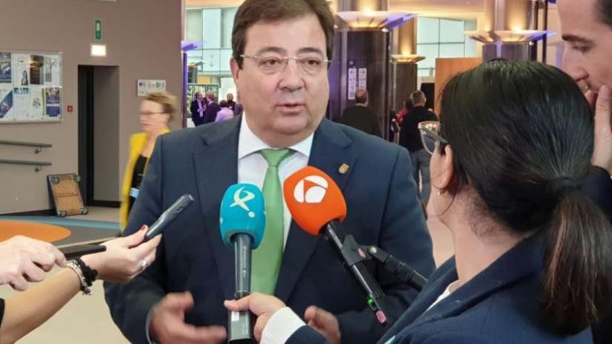 El presidente de la Junta de Extremadura, Guillermo Fernández Vara, en Bruselas