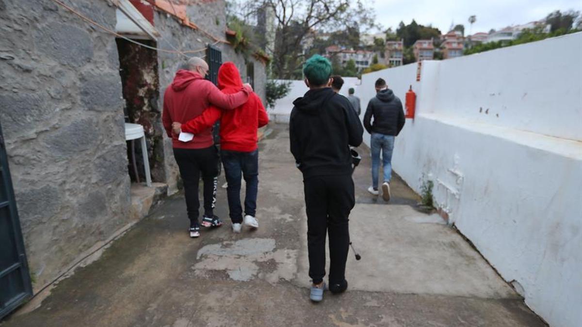 Menores migrantes extranjeros en Gran Canaria. EFE/Elvira Urquijo Á.
