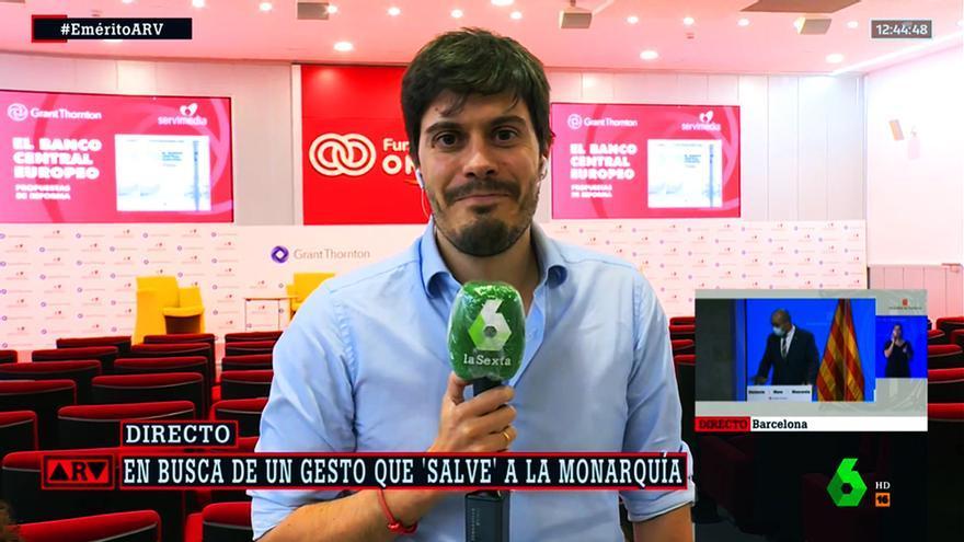 David Junquera en su despedida de laSexta