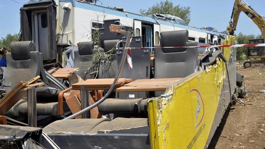El jefe de estación admite que dio vía libre al tren siniestrado en Italia