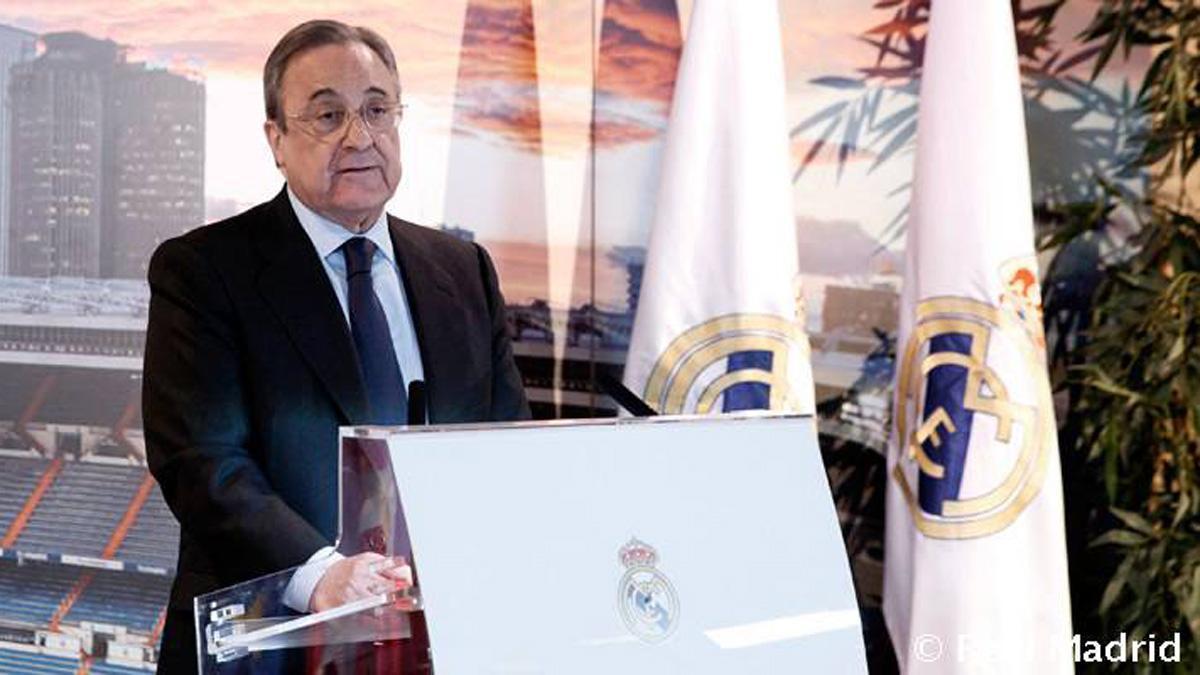 Florentino Pérez, en un acto público.
