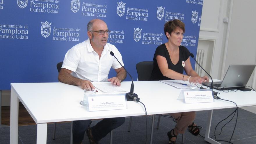 El Ayuntamiento de Pamplona encargará un proyecto para reparar la pasarela del Labrit, que se mantiene cerrada