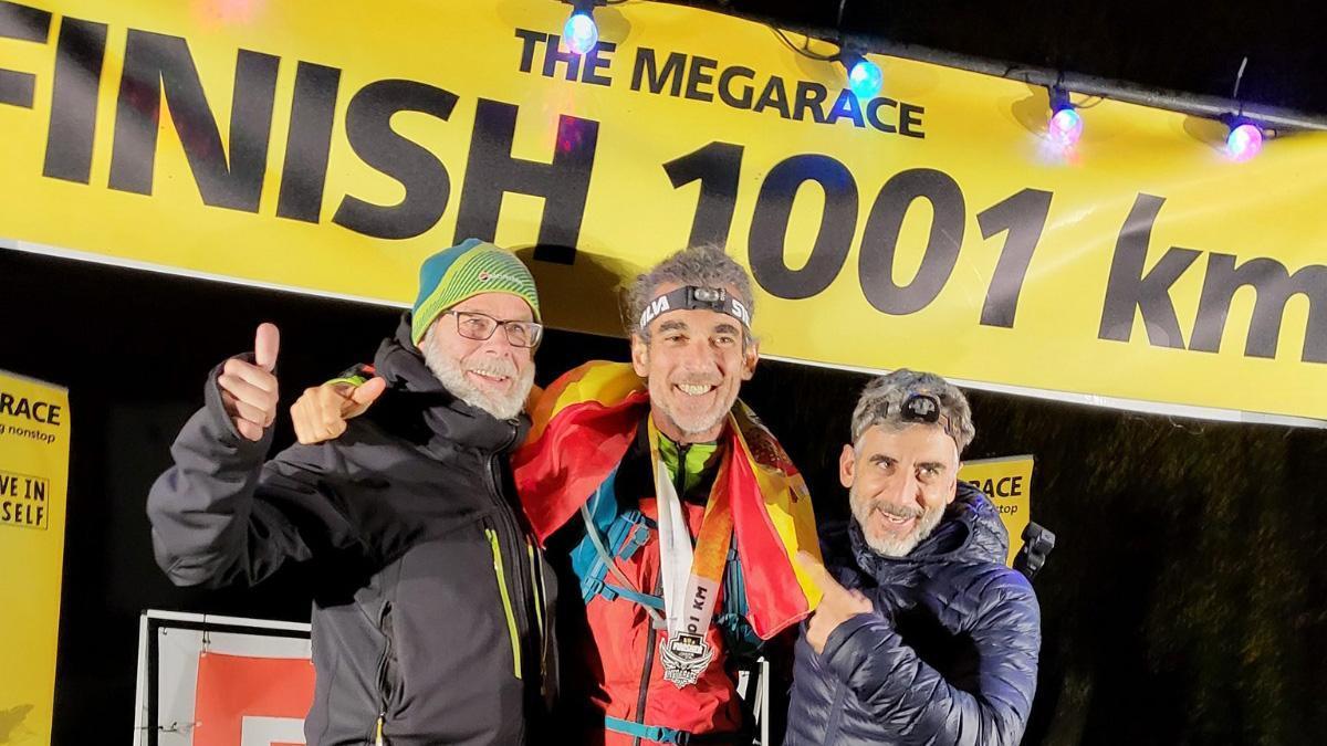 Rafael Argote, en el podio de la Megarace