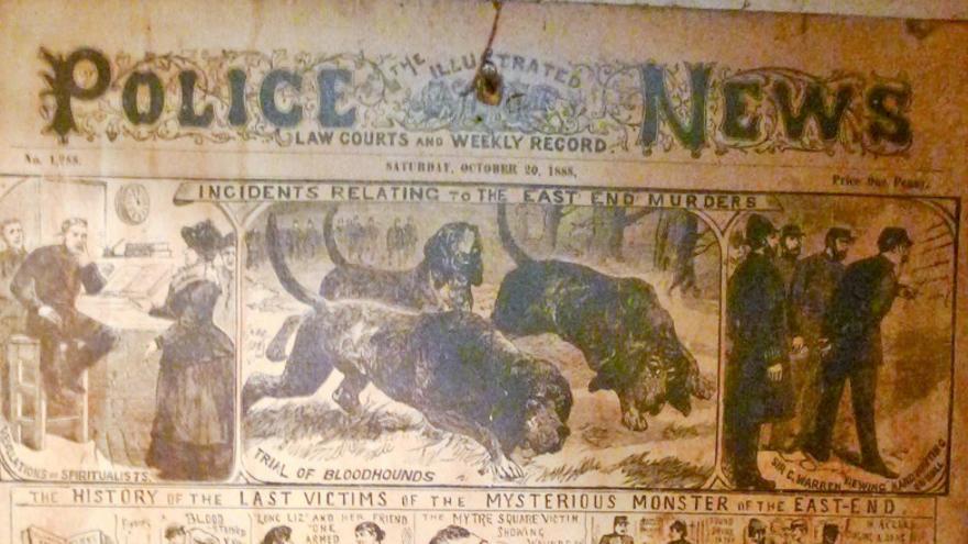 Cartel de la época sobre los asesinatos en Ten Bells.