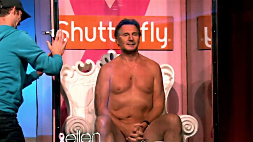 "Liam Neeson, desnudo en ""The Ellen Degeneres Show"""