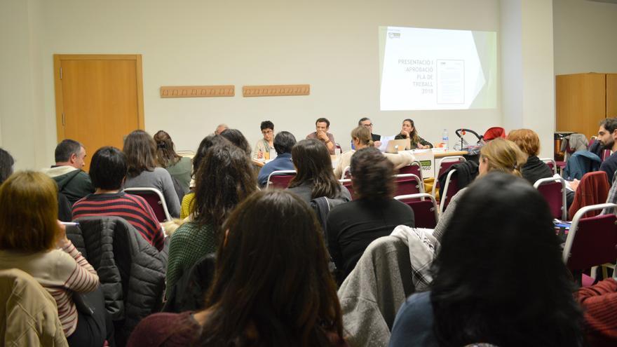 Un momento de la asamblea anual de la Coordinadora Valenciana de ONGDs