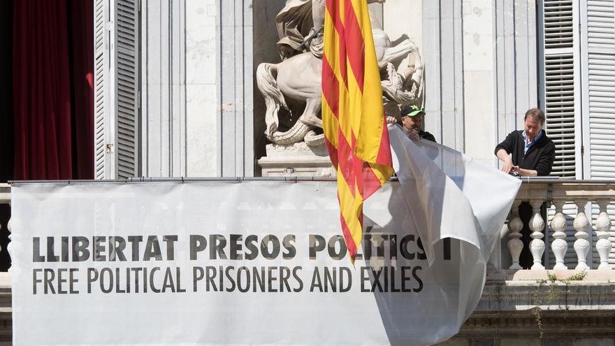 El TSJC concluye que Torra fue partidista con la pancarta pro-presos en el Palau