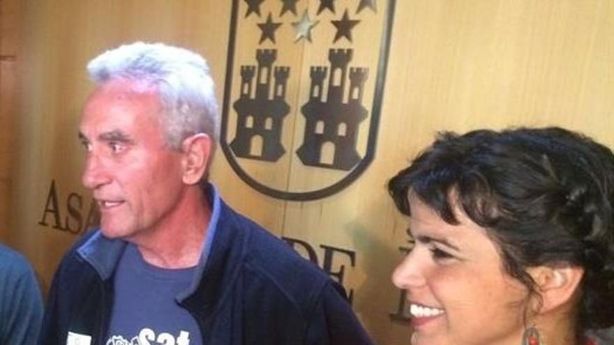 """Rodríguez a Cañamero: """"Acatamos la Constitución porque la ley lo dice, pero no ocultamos que queremos cambiarla"""""""