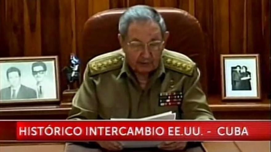 Raúl Castro, en su discurso televisado