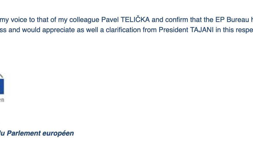 Mensaje de Sylvie Guillaume, vicepresidenta del Parlamento Europeo, sobre las medidas de Tajani en relación con Puigdemont.