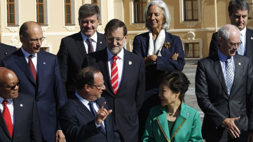 Mariano Rajoy en la foto de familia de la cumbre del G20 de San Petersburgo