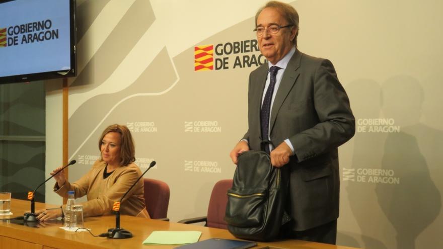 El consejero de Hacienda del Gobierno de Aragón, Carlos Pérez Anadón.
