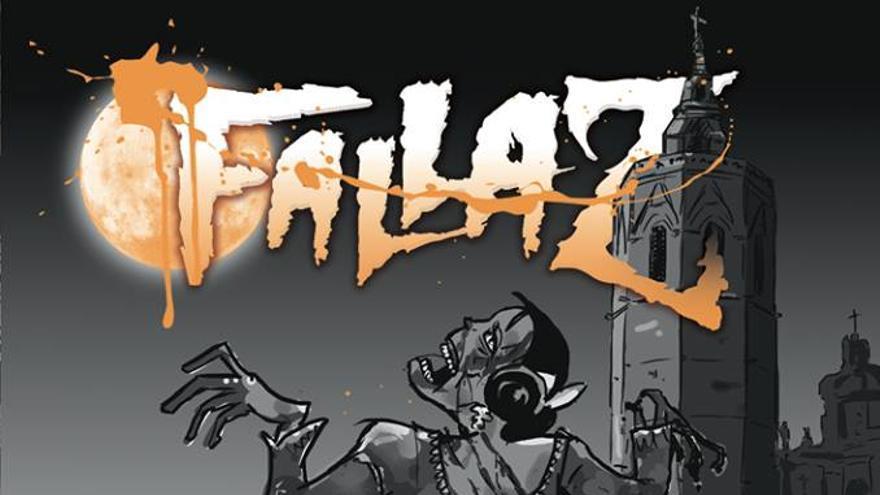 La imagen del cómic FallaZ,con las Fallas y los zombies como protagonistas