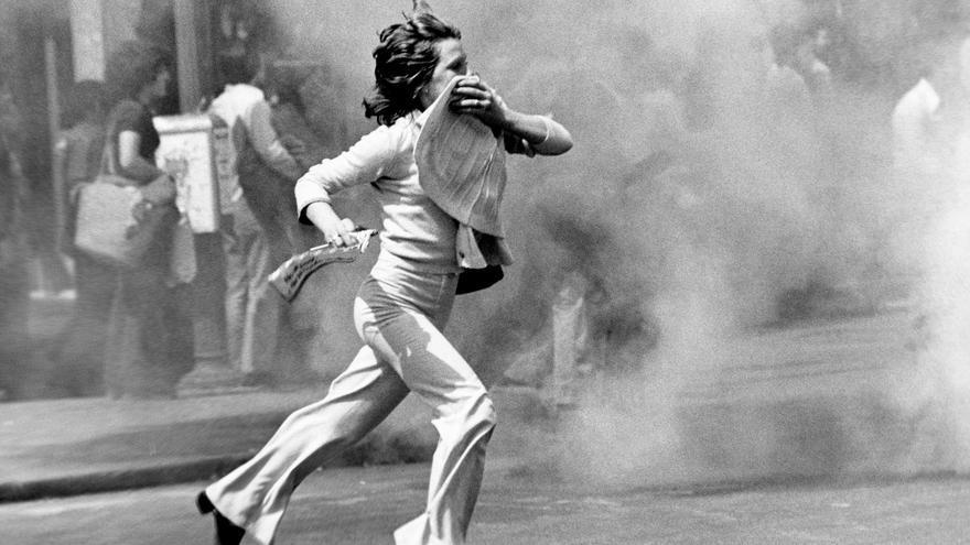 Manifestación del Primero de Mayo en 1977 en Madrid.