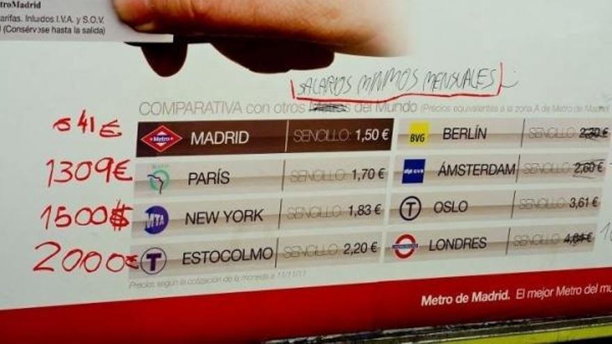 Más por menos, la campaña de Metro de Madrid en 2012
