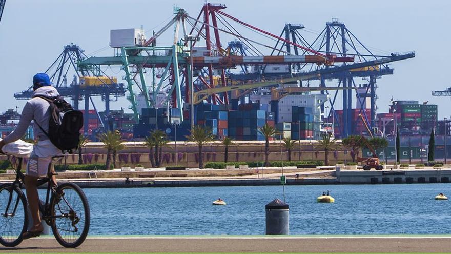 El puerto de València.