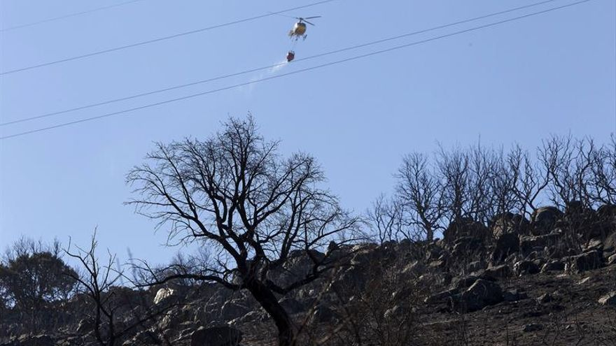 Desactivado nivel de peligrosidad del incendio de Arroyo San Serván (Badajoz)