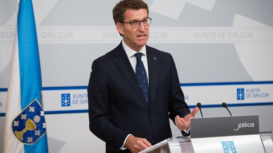 """Feijóo esgrime que el CIS sitúa al PP """"ganador"""" y """"motiva"""" para ir a por la mayoría absoluta de escaños en Galicia"""