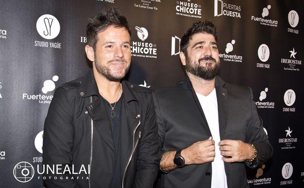 Pablo López y Antonio Orozco en los III Premios Chicote   Fotografía: UNEALAI