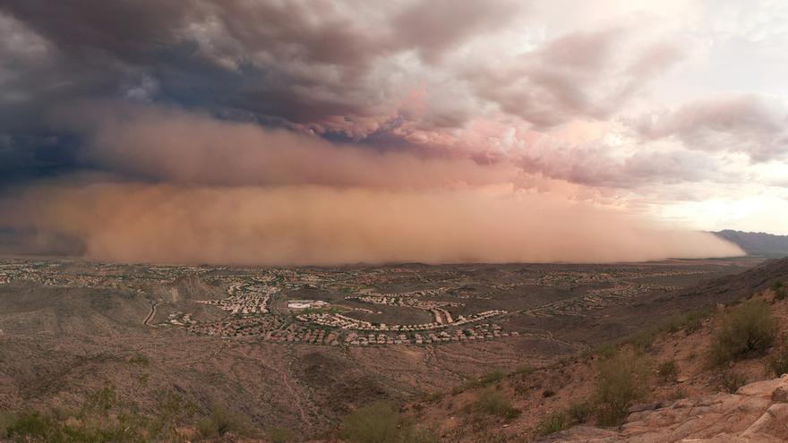Tormenta de arena cercana a Phoenix en julio de 2011.