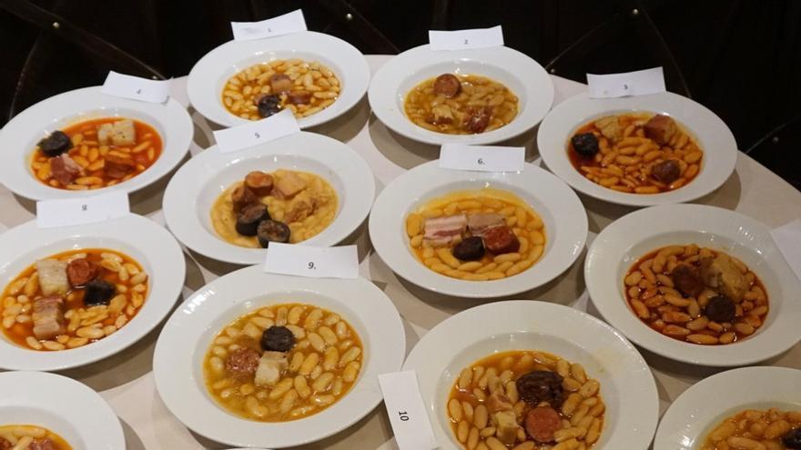 Todas las fabadas elaboradas en la semifinal del concurso. FOTO: La Mejor Fabada del Mundo