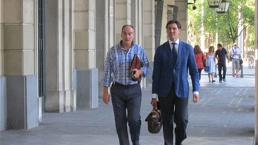 Juan Márquez a su llegada a los juzgados