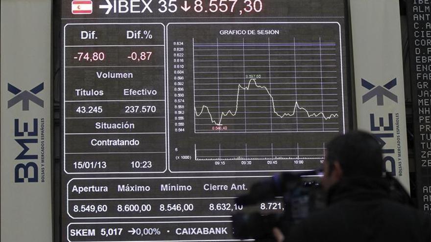 El IBEX sube el 0,37 por ciento en línea con el resto de bolsas europeas