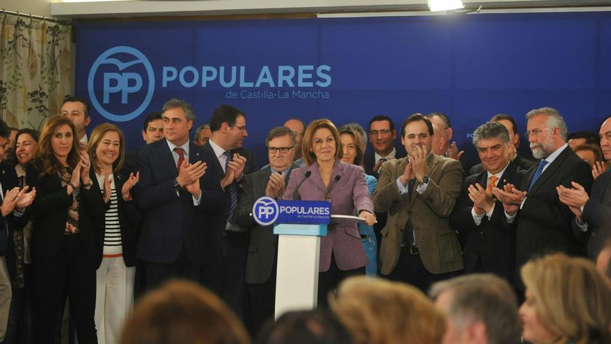 Cospedal, ayer, en el Comité de Dirección del PP de Castilla-La Mancha
