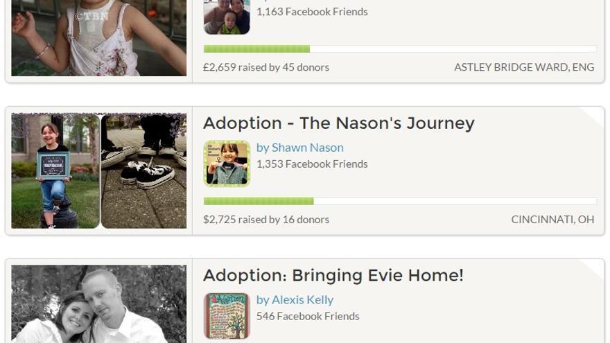 Muchos de los donantes son familiares y amigos