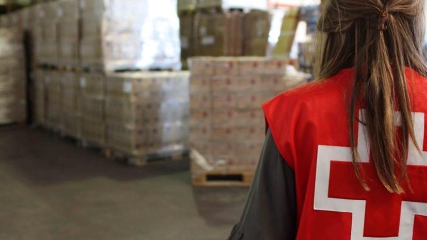 Almacén de alimentos de Cruz Roja / Foto cedida