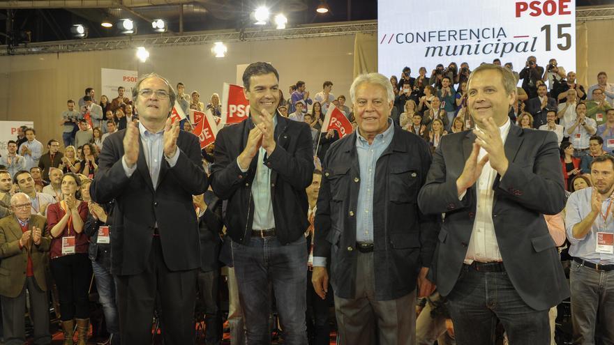 Ángel Gabilondo, Pedro Sánchez, Felipe González y Antonio Miguel Carmona / Foto: PSOE