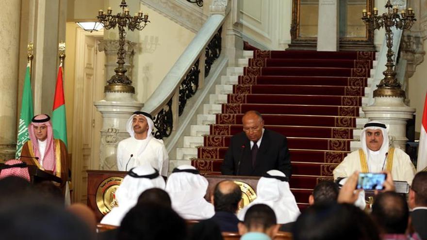 Comienza la reunión de ministros del cuarteto árabe para abordar la crisis con Catar