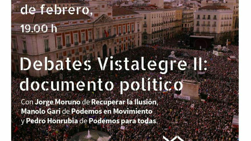 Captura debate Vistalegre II sobre documento político.