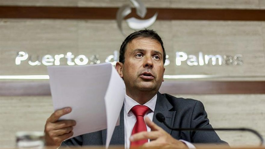El presidente de la Autoridad Portuaria de Las Palmas, Luis Ibarra. (EFE/ÁNGEL MEDINA G.)
