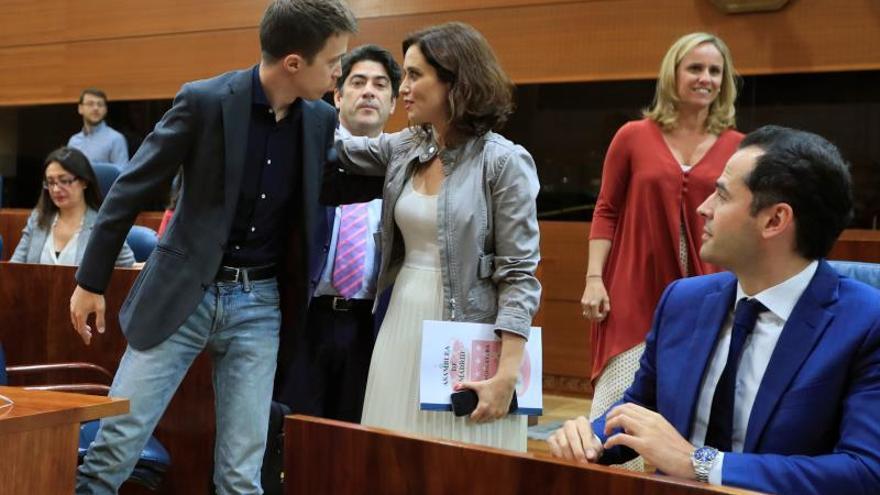 Cs consigue la Presidencia de la Asamblea de Madrid con los votos de PP y Vox