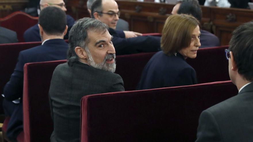 Cuixart, en una de las sesiones del juicio en el Tribunal Supremo