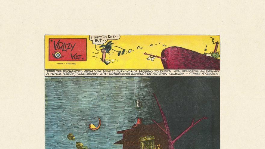 Ilustración en color de Krazy Kat del 28 de agosto de 1938