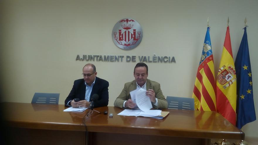 Los concejales Joan Calabuig y Vicent Sarrià