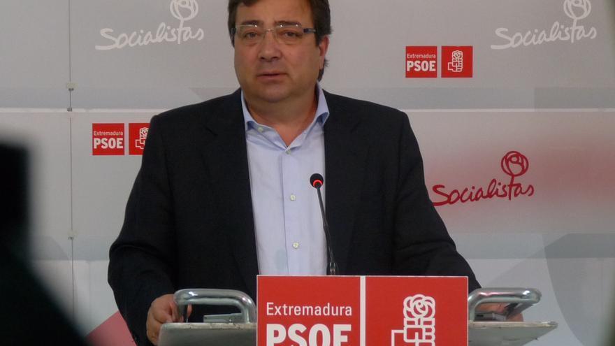 El líder regional del PSOE opinando sobre los Presupuestos del Estado para 2015